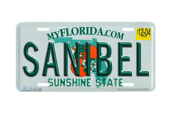 "Airstrike® 605-""Florida State Plate Sanibel""-License Plate"