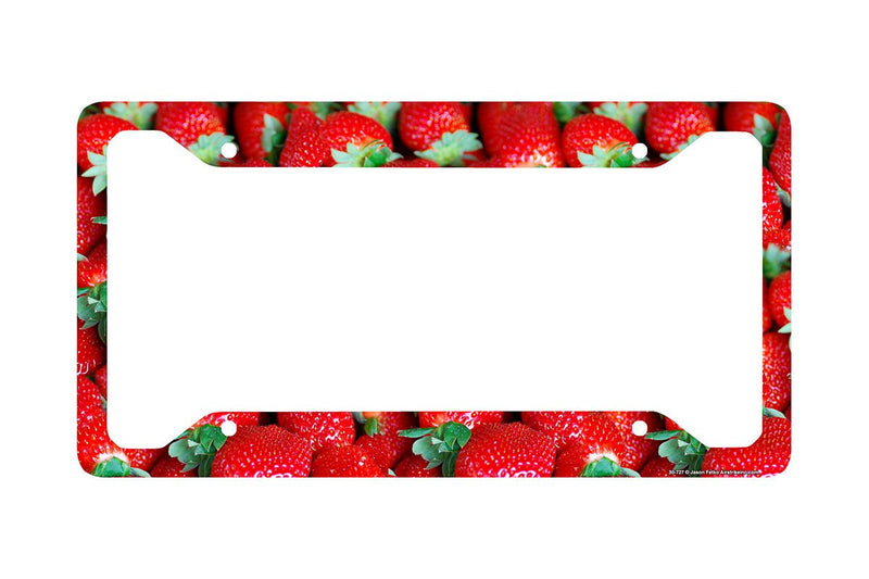 Airstrike® Strawberries License Plate Frame, Strawberry Car Tag Frame, Strawberries License Plate Holder, Cute License Plate Frame-30-727