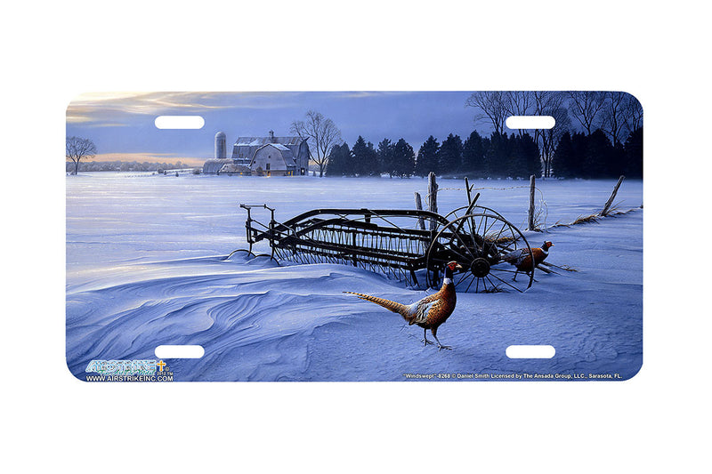 "Airstrike® 8268-""Windswept""-Pheasants License Plate"