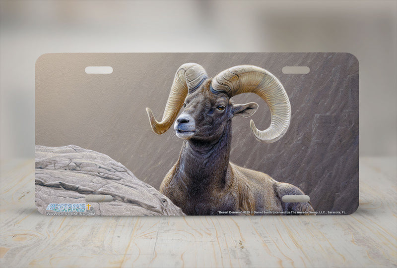 "Airstrike® 8229-""Desert Denizen""- Bighorn Sheep License Plate"
