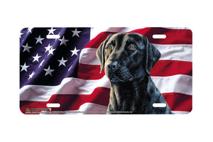 "Airstrike® 5397-""American Black Lab"" Dog License Plate"