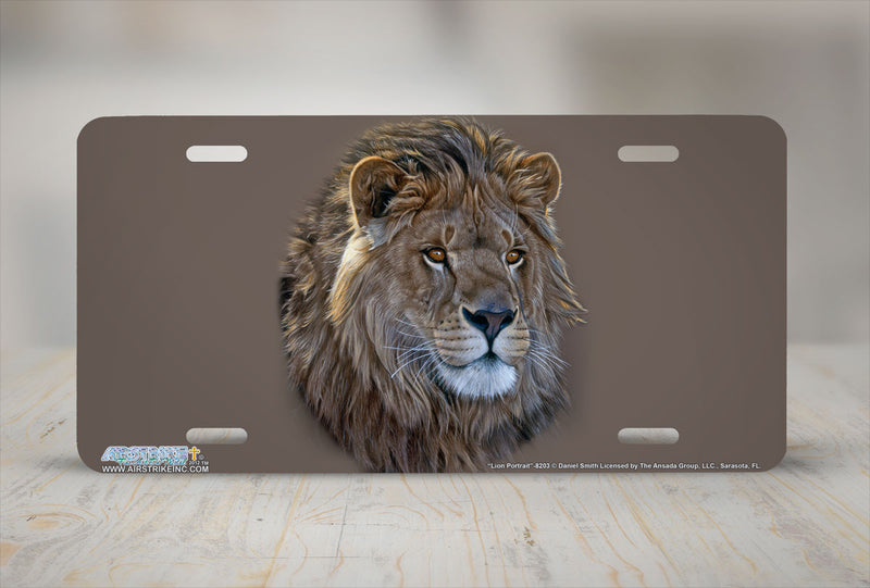 "Airstrike® 8203-""Lion Portrait""-Lion License Plate"