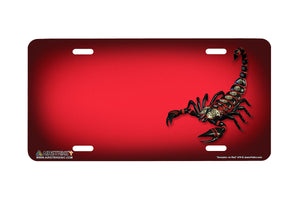 "Airstrike® 570-""Scorpion on Red"" License Plate"