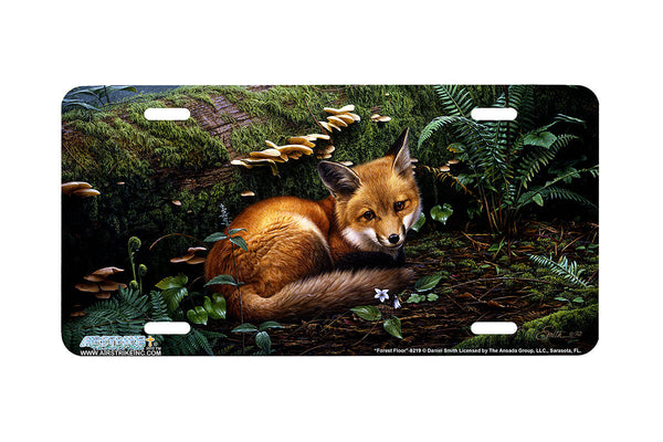 "Airstrike® Fox License Plate 8219-""Forest Floor""-Fox License Plate"