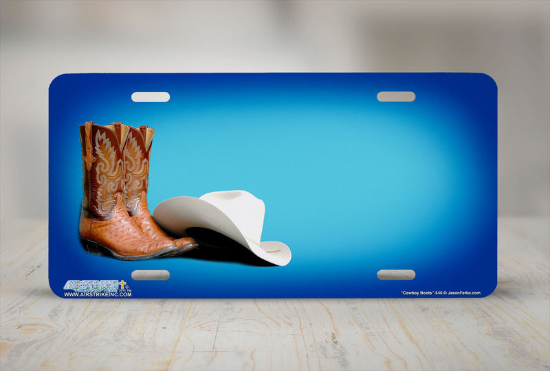 "Airstrike® 546-""Cowboy Boots""- License Plate"