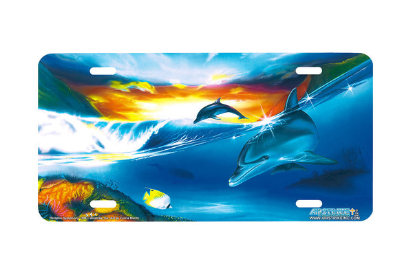 "Airstrike® Dolphin License Plate 206-""Dolphin Symphony"" License Plate"