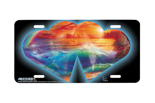 "Airstrike® 230-""Crystal Spectrum"" License Plate"