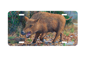 "Airstrike® 5374-""Hog Wild"" Boar License Plate"