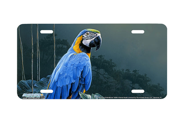 "Airstrike® 8228-""Blue and Gold Macaw""-Parrot License Plate"