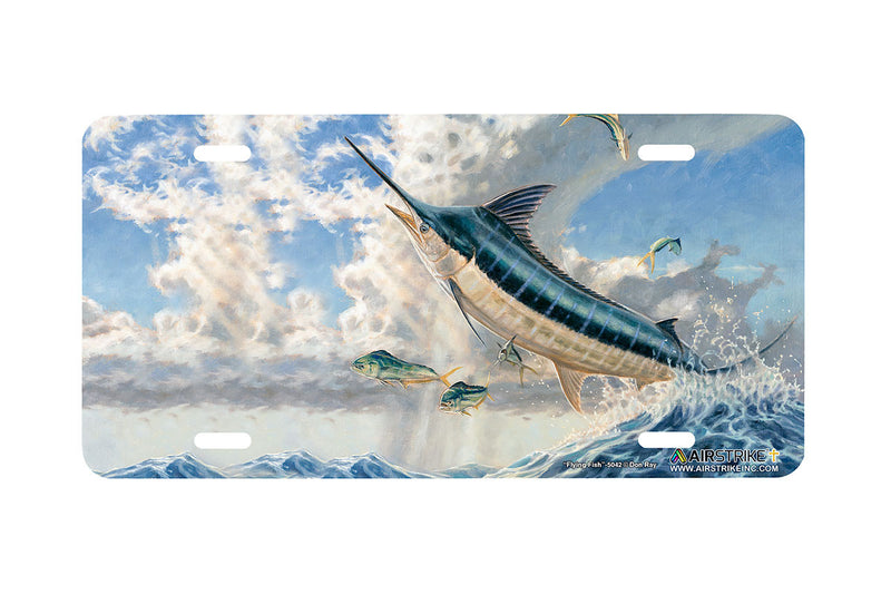 "Airstrike® Fishing License Plates 5042-""Flying Fish"" Marlin License Plate"