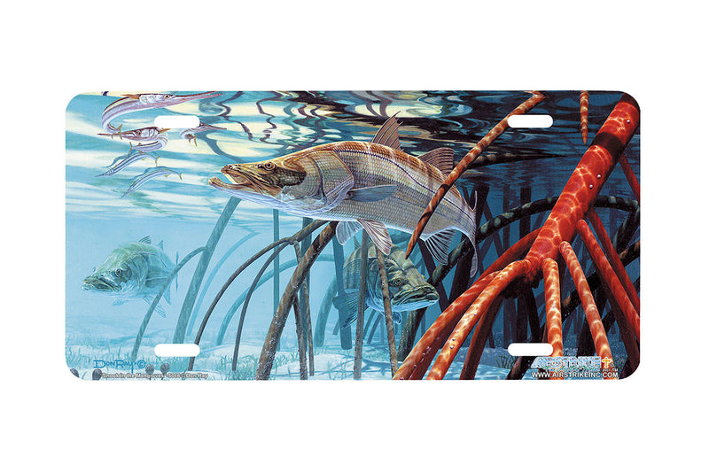 "Airstrike® Fishing License Plates 5016-""Snook in the Mangroves"" License Plate"