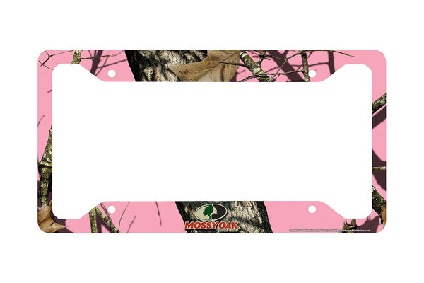 Airstrike® Pink Camo License Plate Frame, Mossy Oak Car Tag Frame, Camo License Plate Holder, Mossy Oak License Plate Frame Pink Break Up Camo-30-8002