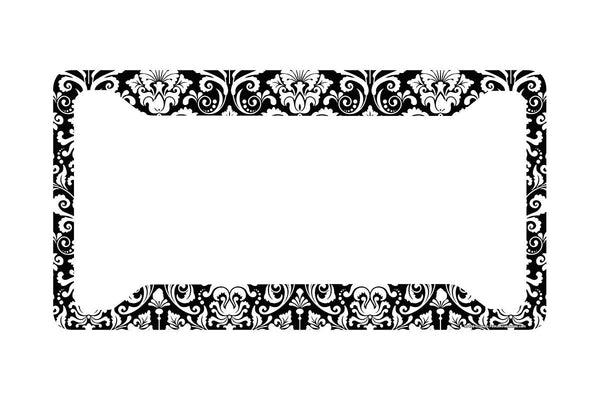 Airstrike® Damask License Plate Frame, Damask Car Tag Frame, Damask License Plate Holder, Cute Damask License Plate Frame-30-656