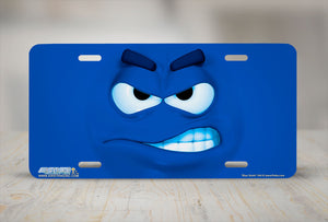 "Airstrike® 544-""Blue Smirk""-License Plate"