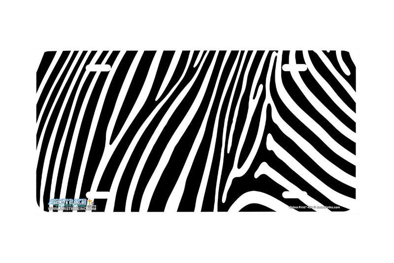 "Airstrike® 450-""Zebra Print"" Zebra Background License Plates"