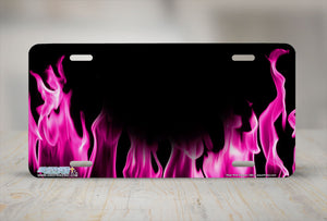 "Airstrike® 380-""Real Pink Flames"" Fire License Plates"