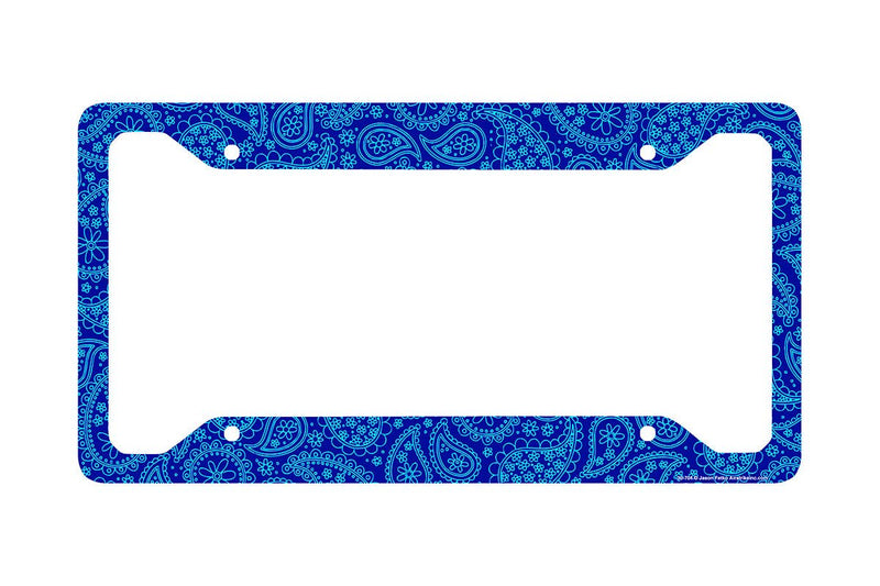 Airstrike® Paisley License Plate Frame, Blue Paisley Car Tag Frame, Paisley License Plate Holder, Cute License Plate Frame-30-704