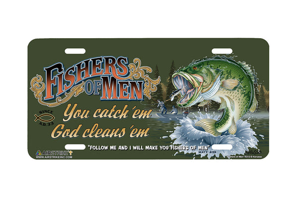 "Airstrike® Christian License Plate 7213-""Fishers of Men""-Christian License Plate"