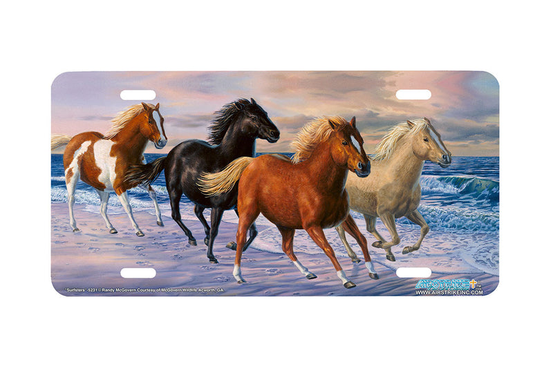 "Airstrike® Beach License Plate 5231-""Surfsters"" Horse License Plates"