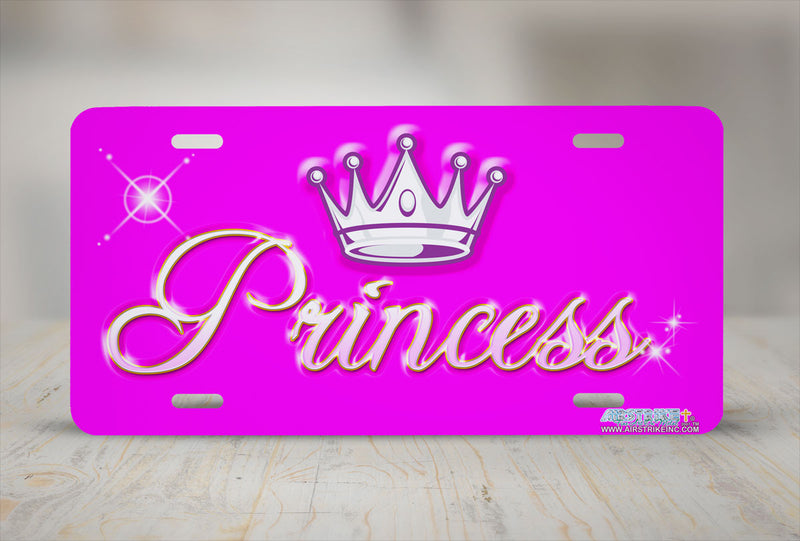 "Airstrike® 250-""Princess"" Princess License Plates"