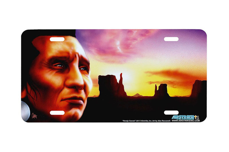 "Airstrike® 201-""Navajo Sunset"" License Plate"