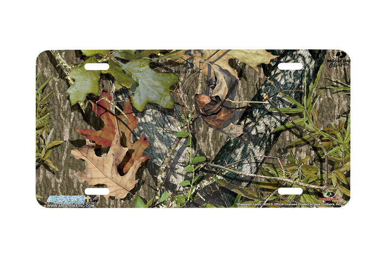 "Airstrike® Mossy Oak License Plate 8014-""Obsession Camo""-Mossy Oak Camo License Plate"