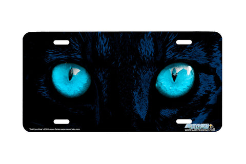 "Airstrike® 248-B-""Blue Cat Eyes"" Cat Eyes Blue License Plates"