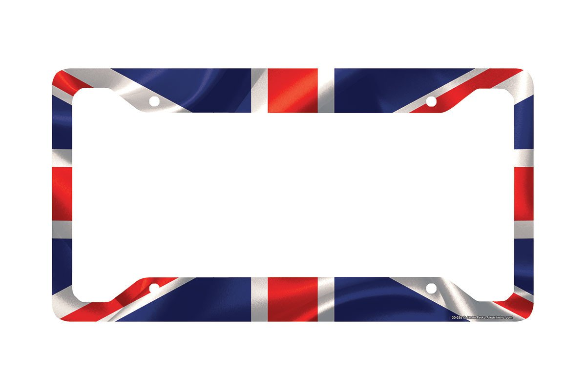 Airstrike 174 British Flag License Plate Frame Union