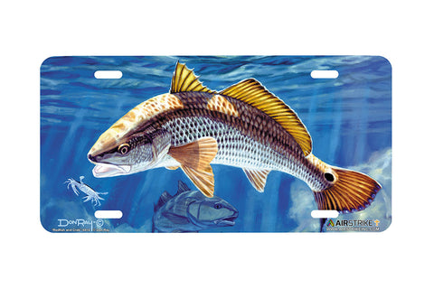 "Airstrike® Redfish License Plate 5010-""Redfish and Crab"" License Plate"