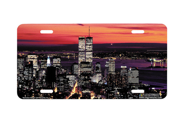 "Airstrike® 239-""Manhattan Sunset"" License Plate"