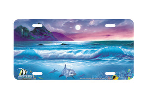 "Airstrike® Beach License Plate 213-""Moonlight Serenade"" License Plate"