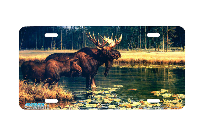 "Airstrike® 6523-""Water World"" Moose License Plates"