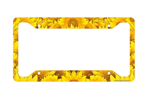 Airstrike® Sunflower License Plate Frame, Sunflower Car Tag Frame, Sunflowers License Plate Holder, Sunflowers Decorative License Plate Frame-30-711