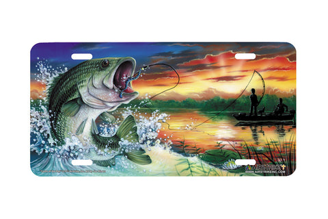 "Airstrike® Bass Fishing License Plates 219-""Catch of the Day"" License Plate"