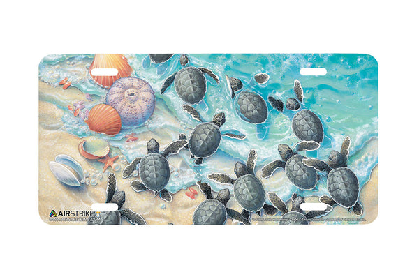 "Airstrike® Sea Turtle License Plate 3400-""Green Turtle Hatchlings"" Sea Turtle License Plate"