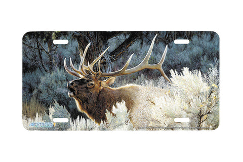 "Airstrike® 3124-""Indian Summer"" Elk License Plate"