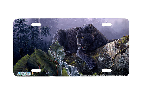 "Airstrike® 8205-""African Ebony""-Black Panther License Plate"