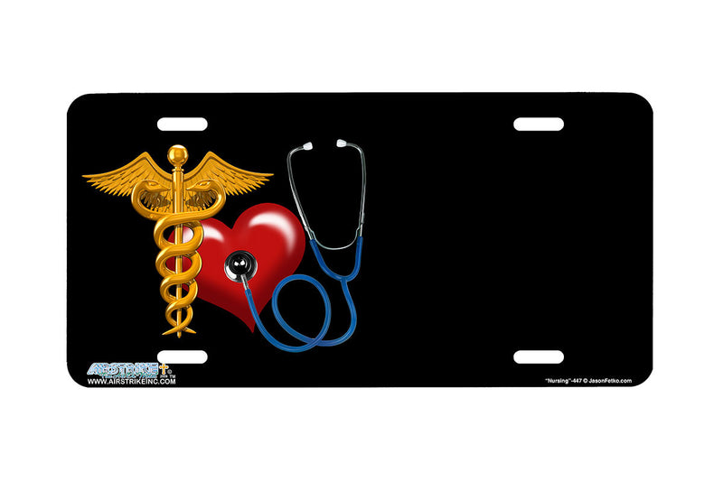 "Airstrike® 447-""Nursing"" Nurse License Plates"