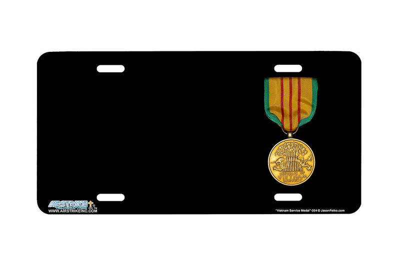 "Airstrike® 354-""Vietnam Service Medal"" Vietnam Service  Airbrushed License Plates"