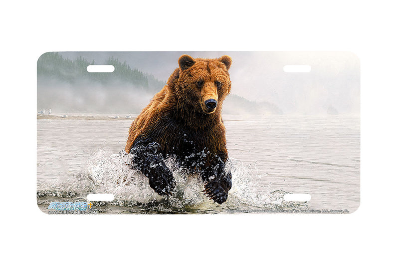 "Airstrike® 8295-""Fluid Force""-Grizzly Bear License Plate"