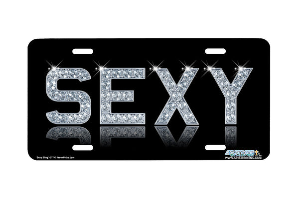 "Airstrike® 277-""Sexy"" Decorative License Plate"