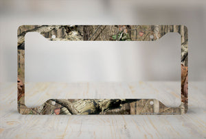 Airstrike® Camo License Plate Frame, Mossy Oak Car Tag Frame, Camo License Plate Holder, Break Up Infinity Camo Mossy Oak License Plate Frame-30-8012