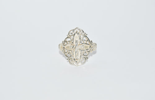 .925 Sterling Silver Filigree Cross Ring www.hersandhistreasures.com/collections/sterling-silver-jewelry