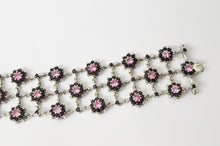 Load image into Gallery viewer, Charles Winston CWE Pink Sapphire And Black CZ .925 Sterling Silver Bracelet