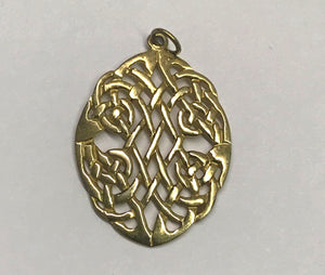 Celtic Knot Oval Necklace Pendant
