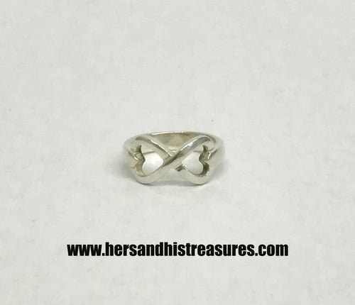 Charles Winston CW Infinity Heart Sterling Silver Ring