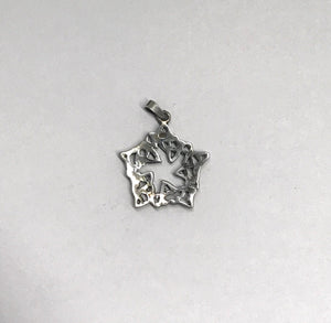 Star Shaped Celtic Knot Sterling Silver Pendant