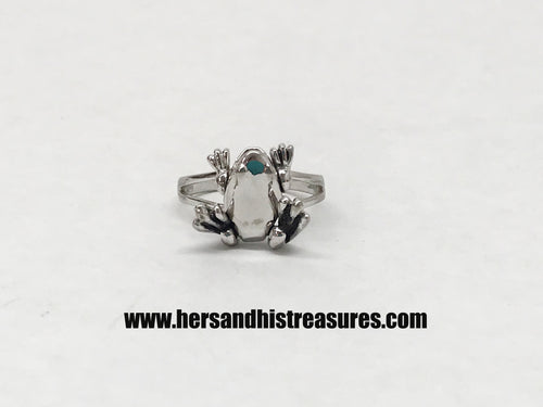 Articulated Frog Sterling Silver Ring