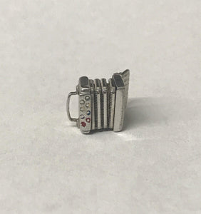 Vintage Squeeze Box Accordion Sterling Silver Charm