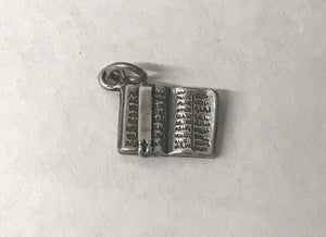 Vintage Holy Bible Sterling Silver Charm